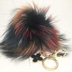 New Dimensional Pieces are back in stock  each piece each #furpompom is unique and one of the kind. You can find this piece in our store http://ift.tt/1SbJKZD under Dimentional Raccoon no.36  #Furbagcharm #furpompomkeychain #furfashion #fashionista #fashionblogger