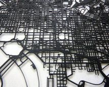lazer cut map