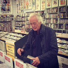 Give me Page — Jimmy Page photographed recently shopping for...