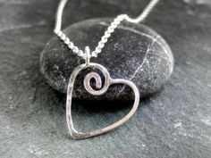 Celtic heart pendant by AlbaJewellery on Etsy, $30.00 Cute Little Tattoos, Celtic Heart, Love Symbols, Handmade Silver, Sterling Silver Pendants, My Images, Washer Necklace, Jewelry Making, Chain
