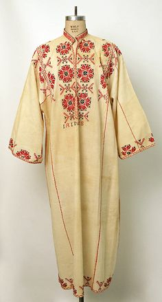 Shirt Date: early century Culture: Romanian Medium: cotton Hungarian Embroidery, Folk Embroidery, Shirt Embroidery, Embroidery Stitches, Embroidery Designs, Ethnic Fashion, Fashion Art, Beautiful Outfits, Cool Outfits