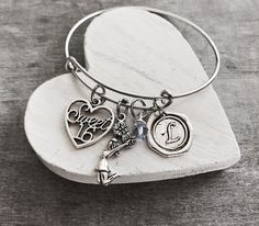 Cheer Silver Necklace Charm Bracelet Sweet 16 Gift Jewelry Adjule Bangle