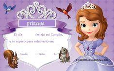 Invitación de Cumpleaños con Sofía la Princesa Prinsesita Sofia, Frozen Backdrop, Princes Sofia, Princess Sofia Birthday, Sofia The First, Coffee Gifts, Baby Center, Baby Shower, Rapunzel