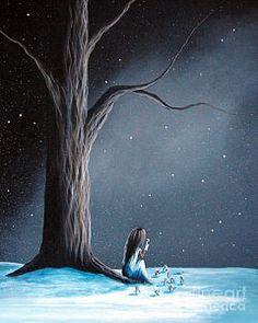 Now She Won't Be Alone By Shawna Erback Art Print by Shawna Erback
