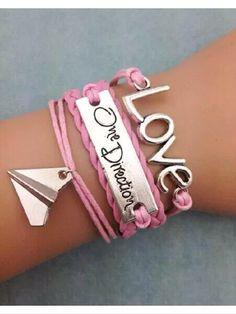 One direction leather style bracelet