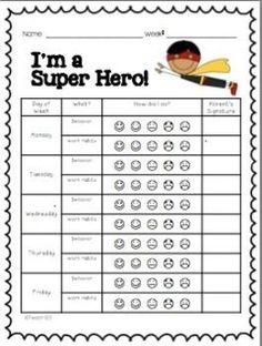 Your students will love these Super hero charts! Motivate your students with all the adorable charts, notes, and other fun stuff in this BEHAVIOR 101 packet. Your parents will appreciate the positive communication! It is also great communication for RTI. $