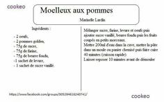 Moelleux aux pommes Math, Foodies, Couture, Cooking Recipes, Meat, Drinks, Sweet Recipes, Math Resources, Haute Couture