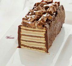Torta fría de chocolate tipo panqué