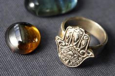 Hamsa+Hand+Ring+in+Sterling+Silver+by+rockmyworldinc+on+Etsy