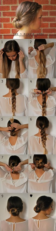 Easy Hairstyles For Long Thick Hair Step By Step Videos - 40 top hairstyles for women with thick hair 5 Minute Hairstyles, Easy Bun Hairstyles, Haircuts For Long Hair, Trendy Hairstyles, Curly Haircuts, Updo Hairstyle, Fashion Hairstyles, Simple Hairdos, Simple Updo