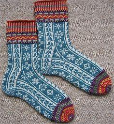 Ravelry: Contredanse pattern by Catherine Wallace Fair Isle Knitting, Knitting Socks, Hand Knitting, Knitting Patterns, Socks For Sale, Wool Socks, Knitting Projects, Making Ideas, Knit Crochet