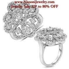 Ebay NissoniJewelry presents Mens Cluster Diamond Ring in 10K