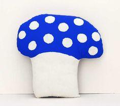 large mushroom blue