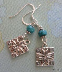 Patchwork Star Earrings by MangoTease