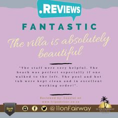 What a phenomenal review from one of our guests. We constantly strive to ensure we not only meet our guest's expectations but exceed them. We truly are blessed and all we can say is thank you for your reviews and support! Beach Villa, The St, Exceed, Be Perfect, Keep It Cleaner, Promotion, Coastal, Blessed, Meet