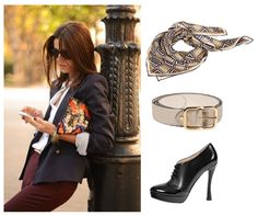 Carlo Pazolini Fall Trend #fashion #styles #FW13 #scarf #belt #office #pump #heels #shoes #work