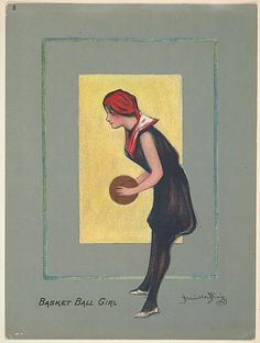 "Basketball Girl, from the series  ""Hamilton King Girls,"" issued by Turkish Trophies Cigarettes, 1913."