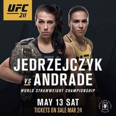 #ufc211 is official as #ufc strawweight #champion Joanna Jedrzejcyzk takes on Jessica Andrade for the championship belt!  Who do fight fans have winning this fight as Jedrzejcyzk looks to dethrone Demetrious Johnson as the p4p #champion?  http://ift.tt/2h35XMu  #mma news #ufc news #bjj #bjjgirls #love #instagood #mmahypewatch #conormcgregor #rondarousey #ronda rousey #boxing #taekwondo #silat #conor McGregor #wrestling #kickboxing #mma hype watch #tumblr #ufc209 #ufc210