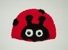 Little Lady Bug Beanie Hat