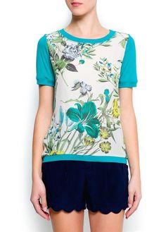 T-shirt painel estampado floral