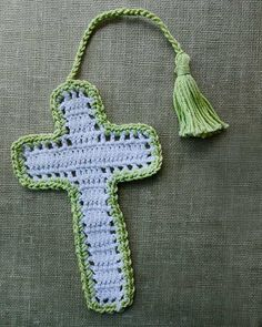 *PAY PATTERN* Picture of Cross Bookmarks in Thread Crochet Pattern
