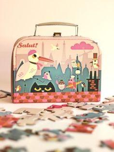 Puzzle and Cardboard Suitcase, Ingela P Arrhenius, 4+