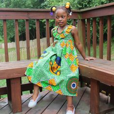 kids in print See Her Unique Ankara Style - Reny styles Ankara Styles For Kids, Ankara Styles For Men, African Dresses For Kids, Beautiful Ankara Styles, Ankara Gown Styles, African Clothes, African Kids, African Women, African Print Fashion