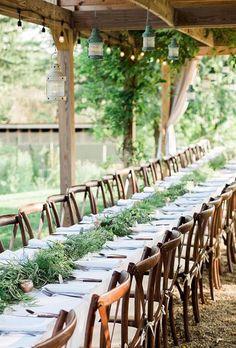 30 Ways To Transform Your Reception Space ❤ wedding reception space simple green decor brittanyleephoto #weddingforward #wedding #bride