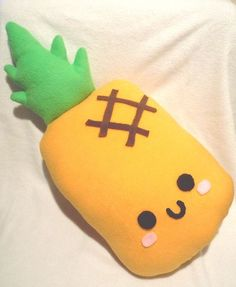 Pineapple Plush Pillow by SugarJerseyJones.deviantart.com on @deviantART super cute and kawaii bed buddy