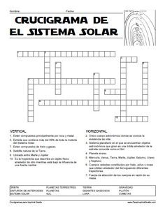 Crucigrama del Sistema Solar para Imprimir Gratis                                                                                                                                                     Más Science Fair, Science For Kids, Social Science, Science And Nature, Science Ideas, Earth Seasons, Spanish Lessons, Learning Spanish, Neon Signs Home