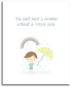 Cute Rainy Day Poster   #CuteWallArt #InspirationalQuote #Poster #Etsy