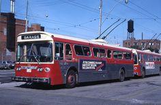 RALBU79 - Toronto Transit Comm Trolley Bus____9216 - Original Slide Toronto, Bus Terminal, Bus Stop, Busses, North America, Transportation, Around The Worlds, Canada, Urban