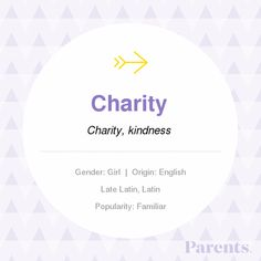With thousands of names in our handbook, choosing the right on just got easier! Explore the meaning, origin, variations, and popularity of the name Charity. Vintage Baby Girl Names, Unique Baby Names, Names Baby, Writing Resources, Writing Ideas, Writing Prompts, Carters Baby, Baby Boys, Crib Bedding