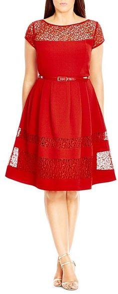 Plus Size Delicate Lace Dress