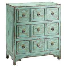 Mint colored chest