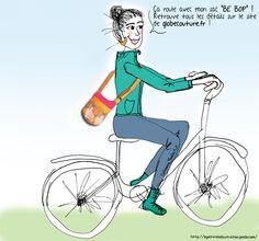 Sac Be-Bop cousu par Globe Couture et illustré par http://lapetiteileillustration.jimdo.com/