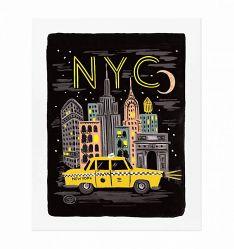 bon voyage nyc print