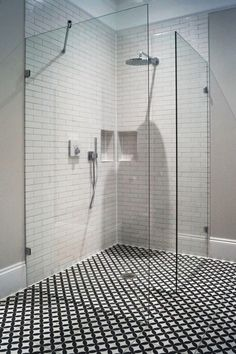 Ergonomic glass shower screens from our company embody the best features of the modern shower units. Make the most reasonable purchase now! Interior, Shower Enclosure, Design Solutions, Glass Shower, White Bathroom, Modern Shower, Shower Screen, Glass, Interior Design