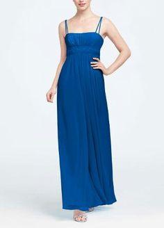 Dress http://m.davidsbridal.com/mt/www.davidsbridal.com/Product_Spaghetti-Strap-Chiffon-Dress-with-Beaded-Waist-F12495
