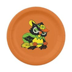 Funny Owl Halloween Party Paper Plates - kitchen gifts diy ideas decor special unique individual customized