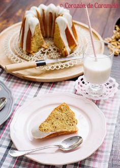 Bundt Cake de Nata y Nueces Loaf Cake, Pound Cake, Yummy Treats, Yummy Food, Tasty, Bunt Cakes, Savarin, Sweet Bread, Flan