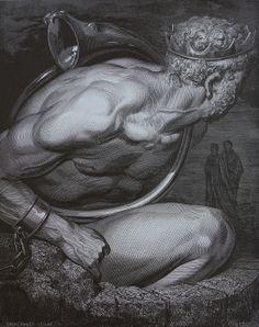 Gustave Doré - La Divina Commedia-L'Inferno-The Giants-Nimrod
