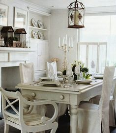 The Little White House On The Seaside: Think Lovely Dining-Rooms