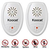 #5: Set of 2 Koocat Ultrasonic Pest Repeller for Insects Rodents Mice Rats Ants Spiders Cockroaches Bug Premium Pest Control Repellent Uses the Latest High-Effective Ultrasonic Technology