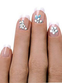 Fancy Nail Designs -- simple and pretty..