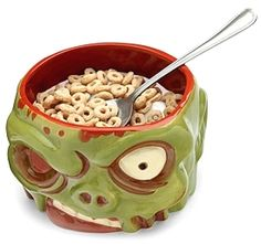 I think I need this Zombie Head cereal bowl! This is just one of the Kitchen Ga… I think I need this Zombie Head cereal bowl! This is just one of the Kitchen Gadgets in this post – Great Gifts For Guys, Gifts For Him, Man Gifts, Zombie Head, Zombie Life, Zombie Zombie, Geek Decor, Cool Stuff, Stuff To Buy