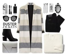 """""""Duster jacket"""" by elly3 ❤ liked on Polyvore featuring Topshop, Nudie Jeans Co., Madewell, Alexander Wang, Quay, Casetify, esum, Agonist, contestentry and polyvoreeditorial"""
