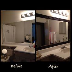 Framed bathroom mirror for Master Bath - Done.