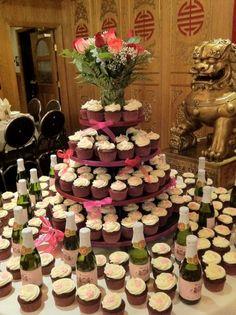 Wedding cupcake display - yellow and grey, rustic, burlap | 06.29.13 ...