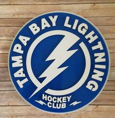 Tamp Bay Lightning sign by FantasticSigns on Etsy Lightning Logo, 3d Signs, Captain America, Superhero, Handmade Gifts, Fictional Characters, Vintage, Etsy